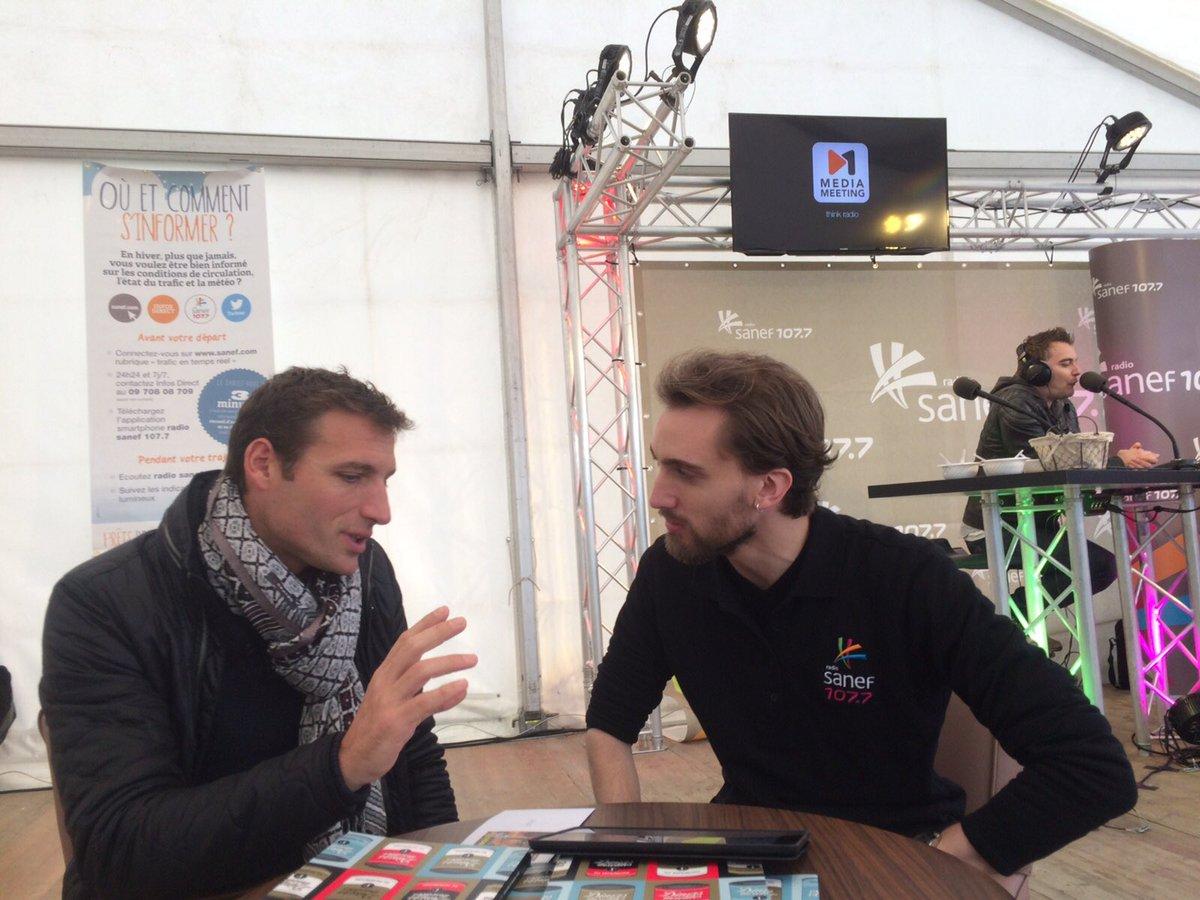 Hervé Santerre directeur du Zoo d'Amnéville et Frédéric Haury animateur Sanef 107.7