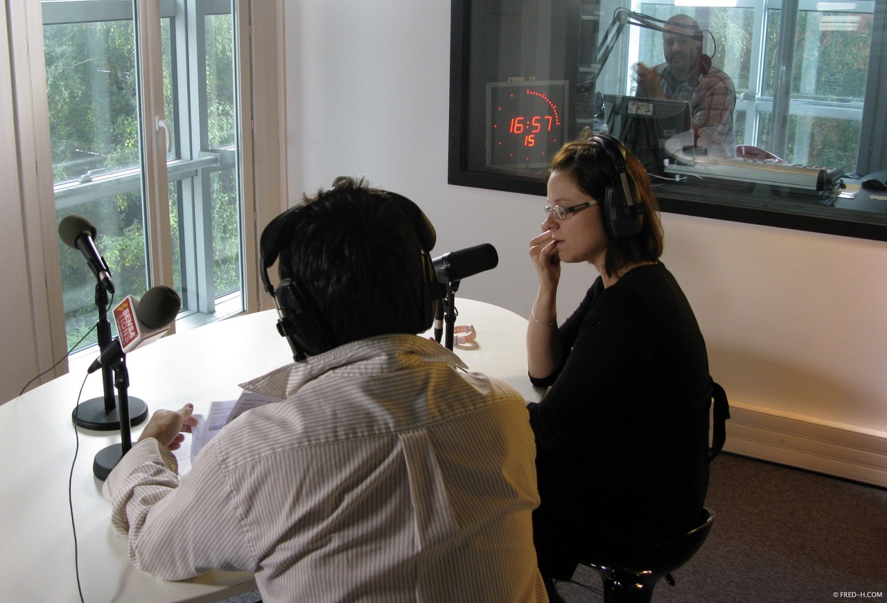 """Franck Edard et Nolwenn Le Calvé enregistrent """"Place à l'Info"""" avec Francis Guillerault à la réalisation"""